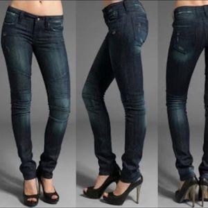 Rock Revival Sheryl Skinny Dark Wash Moto Jean 27